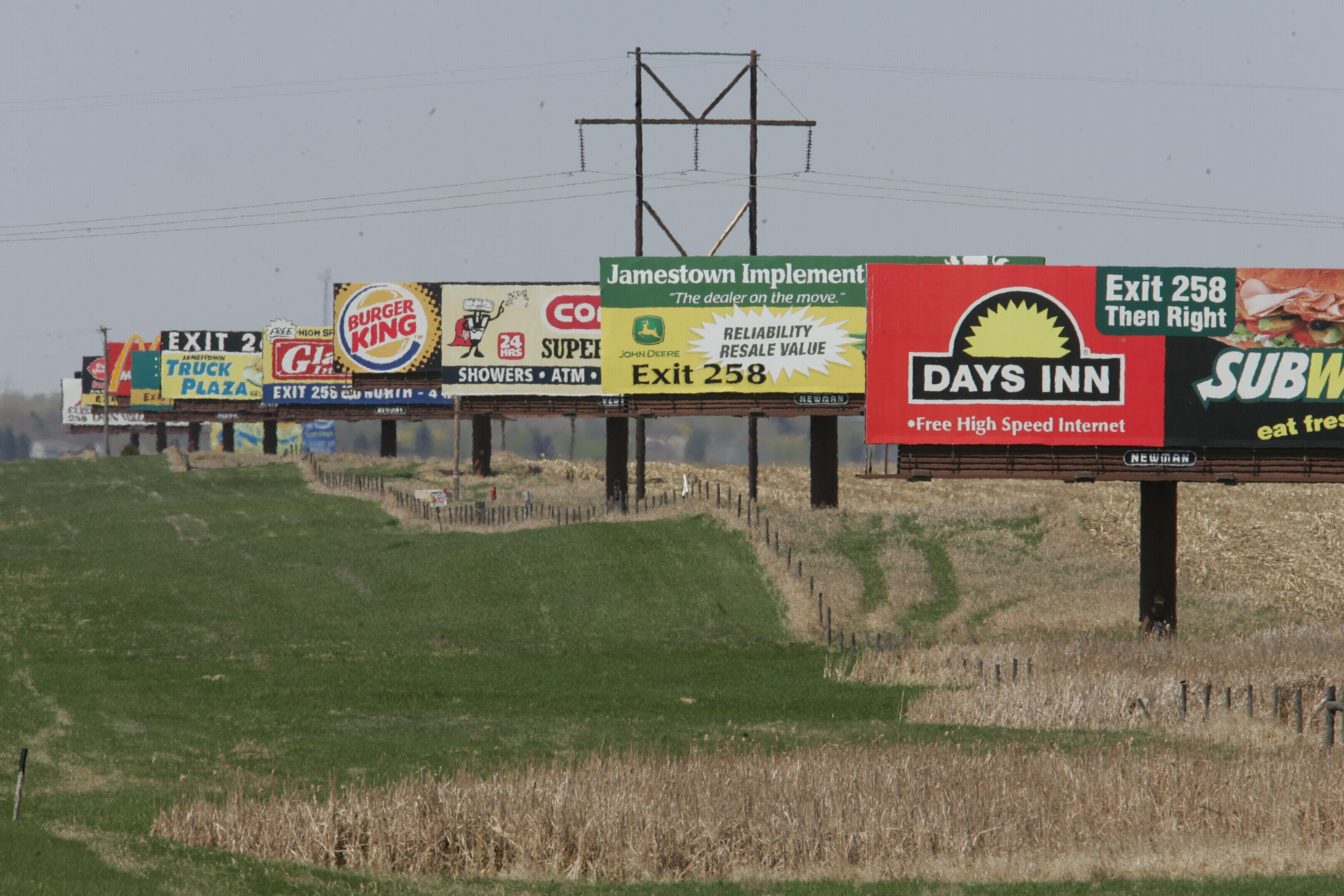 signs along I-94